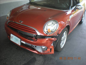Mini Cooper After Prestige Auto Body Photography