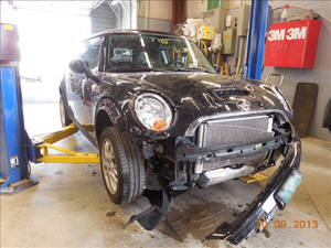 Mini Cooper Before Prestige Auto Body Photograph